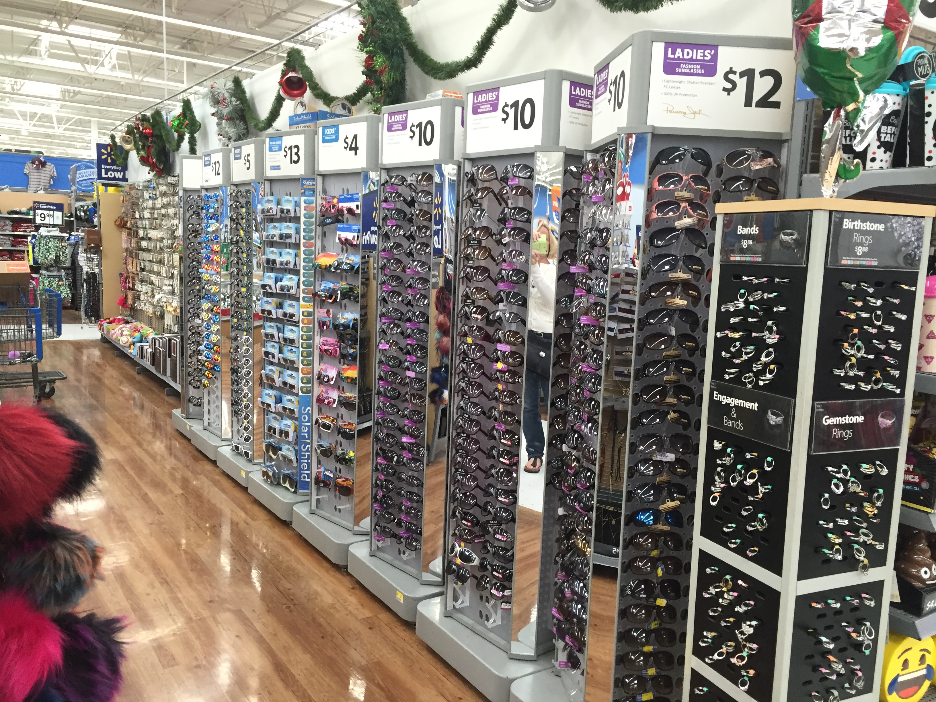 WALMART--SUNGLASS & JEWELRY DISPLAYS