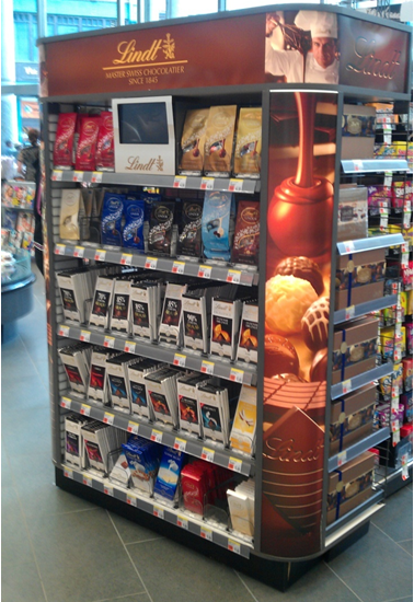 Lindt Lit End Cap at Drugstore